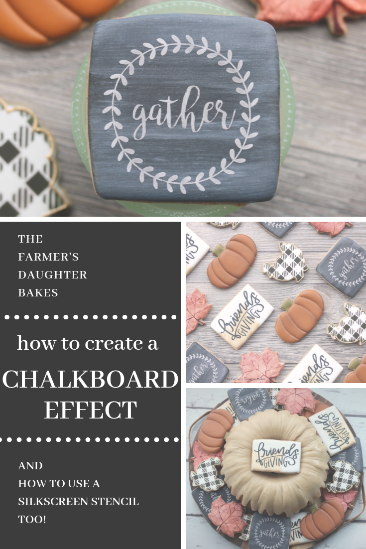 chalkboard cookies, chalkboard, cookies, decorated cookies, thanksgiving cookies, thanksgiving, fall, cookie art, cookie tutorial