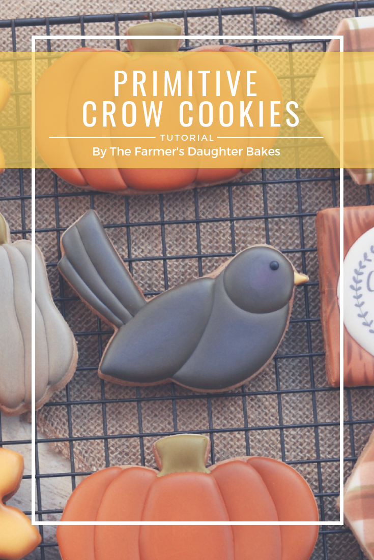 Crow Cookies, Fall Cookies, Cookie Tutorial